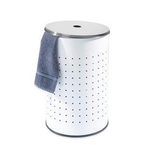 Home4You Barrel 1 Wäschekorb aus Edelstahl 54 Liter