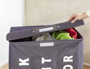 WENKO Wäschekorb mit Deckel