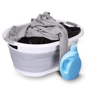 yoouu - Wäschekorb mit Wäsche